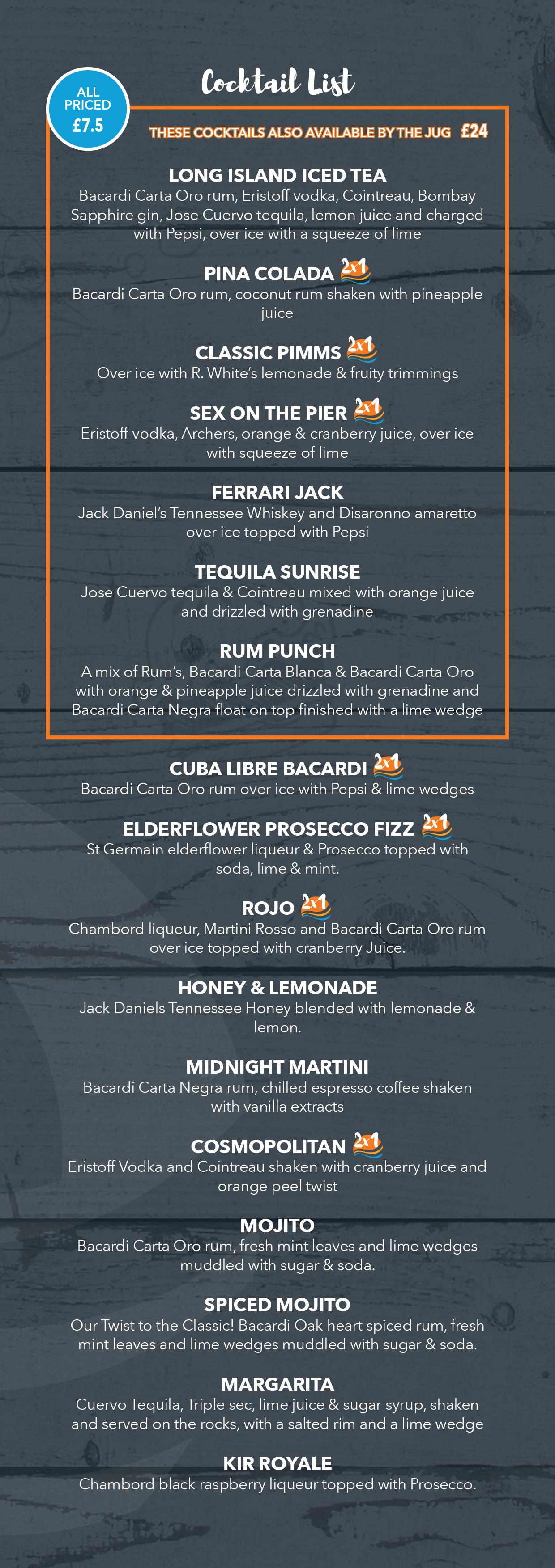 Key West Cocktails List